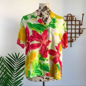 Jams World Vintage Floral Button Down Shirt